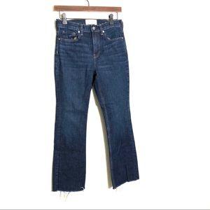 Everlane the Kick Crop Frayed Jeans